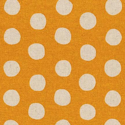 Robert Kaufman Sevenberry Canvas Natural Dots SB-88187D1-10 GOLD