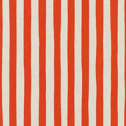 Robert Kaufman Sevenberry Canvas Natural Stripe SB-88187D3-5 ORANGE
