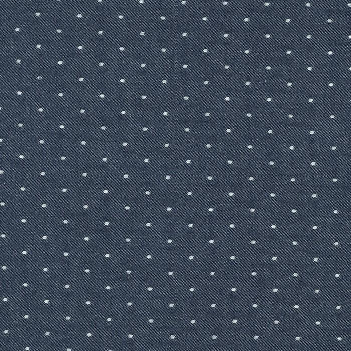 Cotton Chambray Dots INDIGO