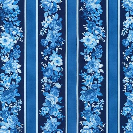 Mayfield Floral Stripe<br>Indigo - SRK-16964-62