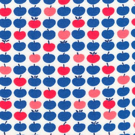 Americana Apples Laguna Jersey Knit Fabric by Robert Kaufman
