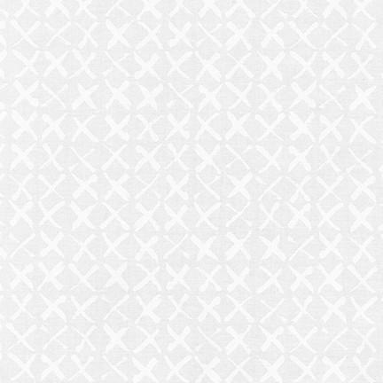 Pen & Ink: X's - White on White