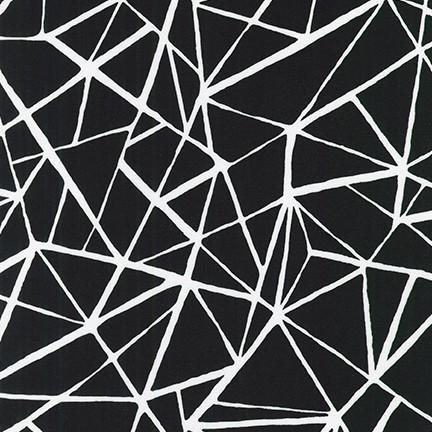Pen & Ink: Grid - White on Black