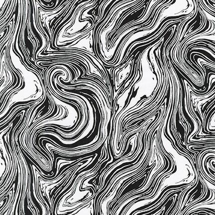 Pen & Ink: Swirls - Black on White