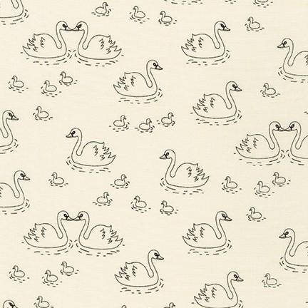 On The Lighter Side 2 IVORY Swans