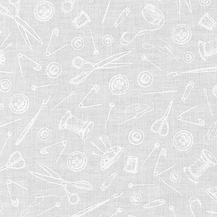 Robert Kaufman Mini Madness SRK-19696-1 WHITE