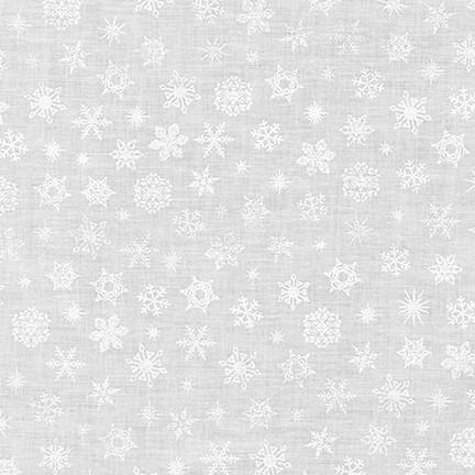 Mini Madness White on White Snowflakes