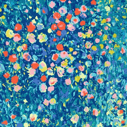 Painterly Petals Multi SRKD-19149-205 Robert Kaufman