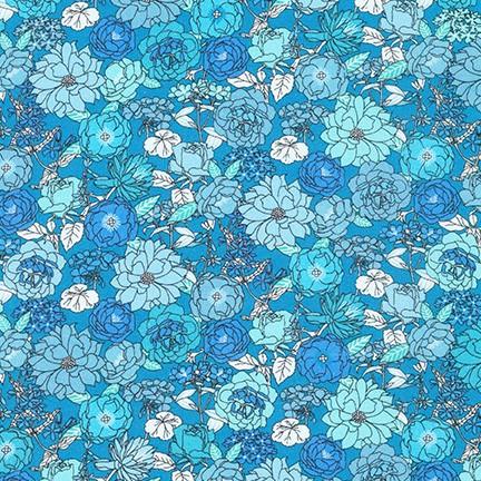 Lawn Print : London Calling 9 - 19227 (Blue Jay)