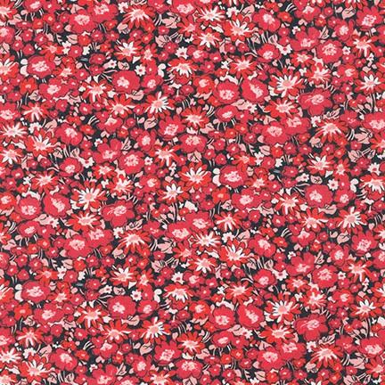 Lawn Print : London Calling (Crimson)