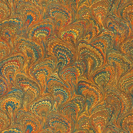 KAUF- Library of Rarities Brown Feathered Swirls