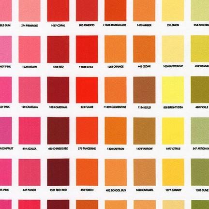 Kona Printed Color Chart