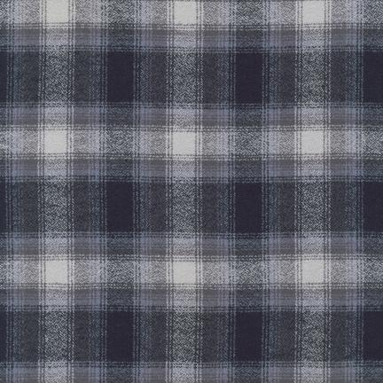 MAMMOTH FLANNEL GRAY, BLACK & CREAM PLAID SRKF-13933-12 (GRAY)
