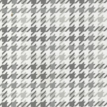 Cozy Cotton Flannel Houndstooth GREY - COMING SOON