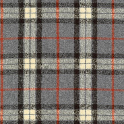MAMMOTH FLANNEL - PLAID -GREY - SRKF-14884-12