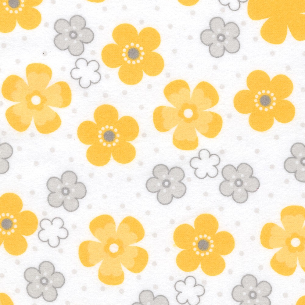 Cozy Cotton Flannel Robert Kaufman Yellow SRKF-15592-5
