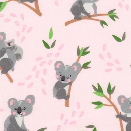 Cuddly Crew Flannel Koala PINK