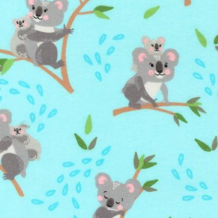 Cuddly Crew Flannel Koala AQUA