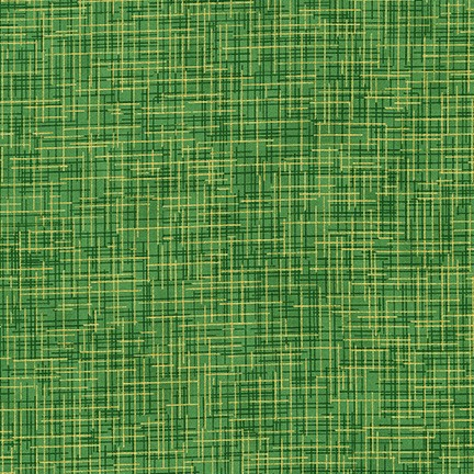 Quilter's Linen Green with Gold Metallic