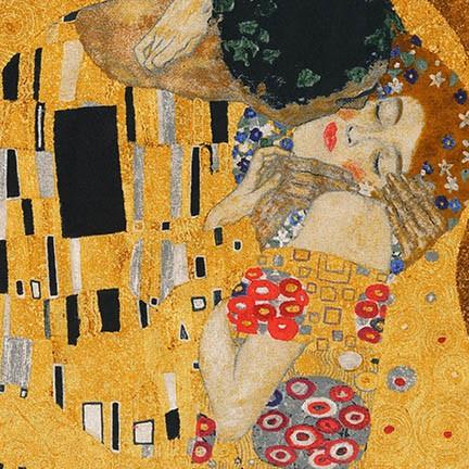 Gustav Klimt The Kiss Panel