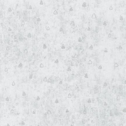 Gustav Klimt Silver Triangles on Silver