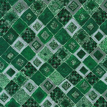 Gustav Klimt Emerald Diamonds