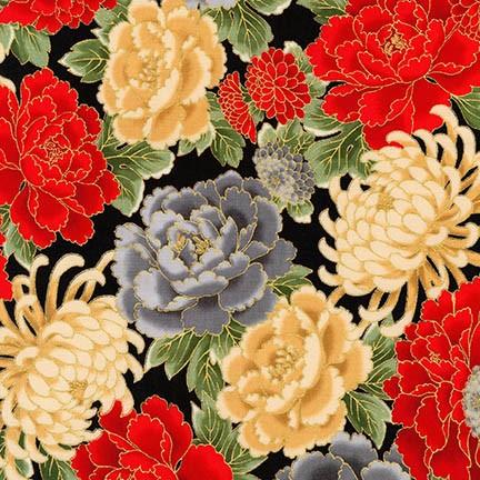 Imperial flowers on BLACK