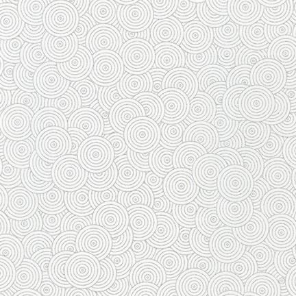 Whisper Metallics Circles Blanc