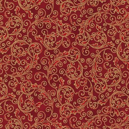 Robert Kaufman Holiday Flourish 13 SRKM-19255-3 RED