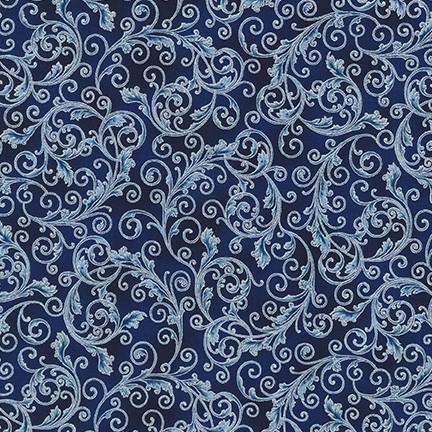 Blue Scroll Metalic