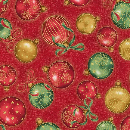 Robert Kaufman Holiday Flourish 13 SRKM-19256-3 RED