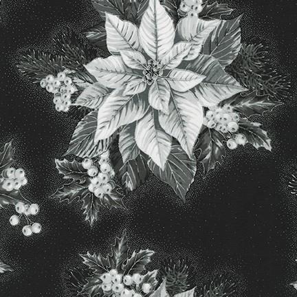 Holiday Flourish 13 - Onyx Poinsettias Arrangement - 19257