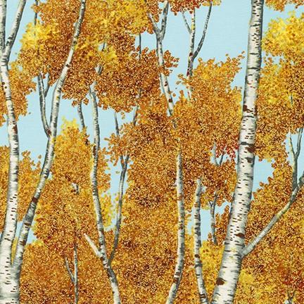 Wildwood Grace Autumn Trees on Blue