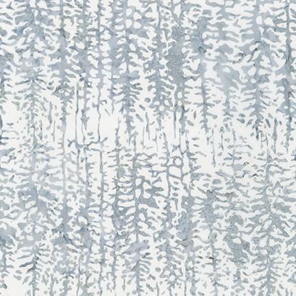 Robert Kaufman Batik Twilight Snowfall SRKM-19432-254 FROST W/ Silver Metallic