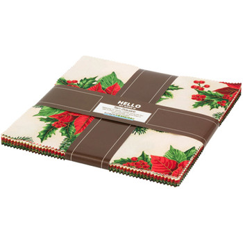 Holiday Flourish  10 Square 42 pc Holiday Colorstory FQ-796-42 Christmas
