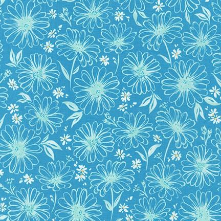 Daisy Made Floral Dusty Blue