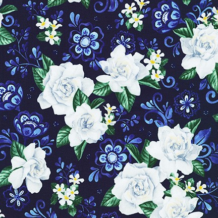 Gardenia Party - NAVY FLORAL- WEL-19630-9