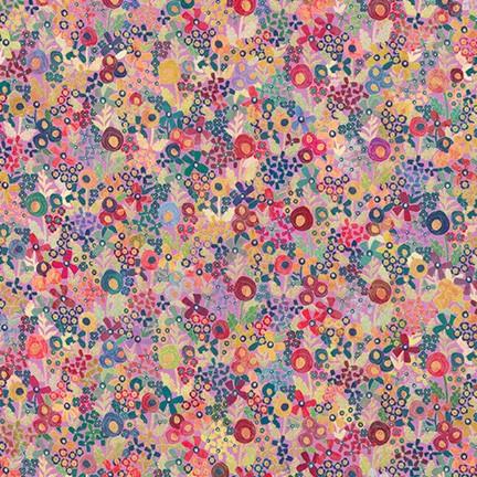 Robert Kaufman Happy Place Floral - Thistle