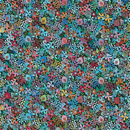 Robert Kaufman Happy Place Floral - Rainbow