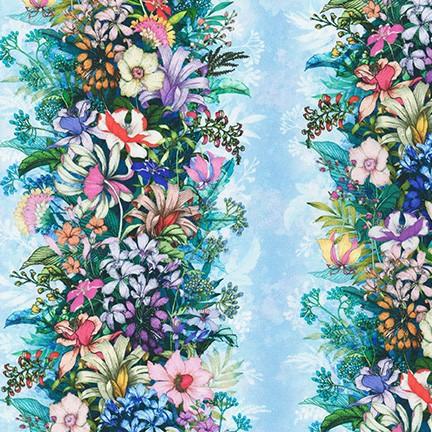 Topia Wildflower stripe (2) by Robert Kaufman Fabrics