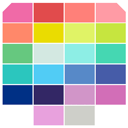 Tula Pink - Fat Quarter Bundle - Solids - 22 Pieces