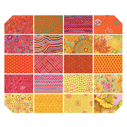 Kaffe Fassett Collectives Classic Citrus 10 Inch Charm Pack