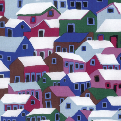 Shanty Town Winter by Kaffe Fassett