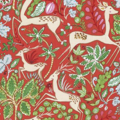 FREE SPIRIT WINTERLAND DENA DESIGNS REINDEER RED