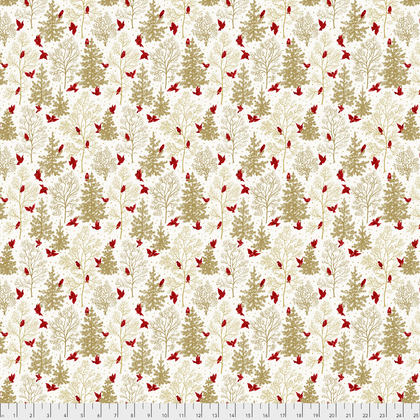 Mid-Century Christmas: Snowbirds - Gold