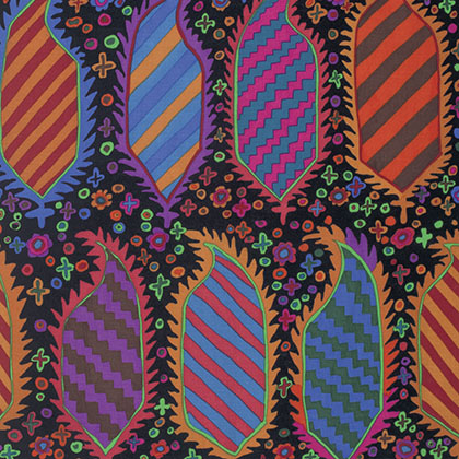 Kaffe Fassett - Fall 2015 - Striped Herald - Black