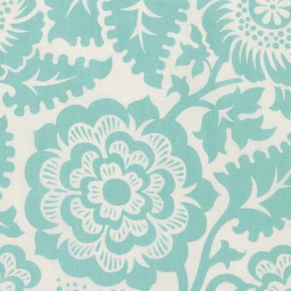 Blockprint Blossom Aqua