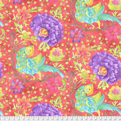 PWLH008 WATERMELON BIRD IN HAND COLLECTION BY LAURA HEINE FOR FREE SPIRIT FABRICS