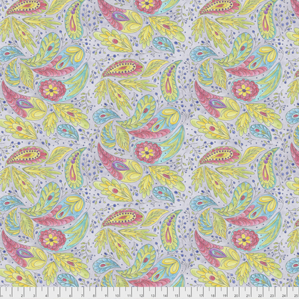 PWLH009 GRAY BIRD IN HAND COLLECTION Paisley BY LAURA HEINE FOR FREE SPIRIT FABRICS