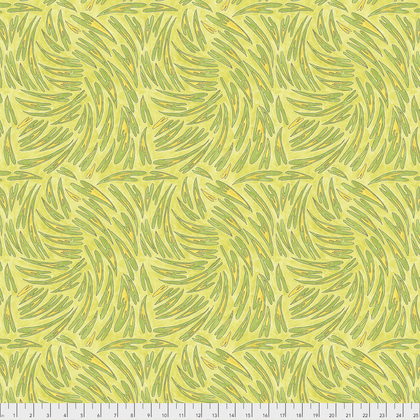 PWLH011 ACID HEARTS  BIRD IN HAND COLLECTION BY LAURA HEINE FOR FREE SPIRIT FABRICS